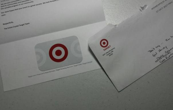Target 5537 W Broadway Ave, Crystal, MN $25.00 10-25-17