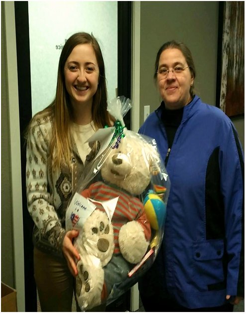 Delivery to Lutheran Social Service-St. Cloud MN --1 Boy Buddy Bear Tote Bag-1....3-15-18d