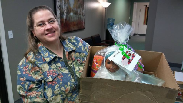 Delivery to Lutheran Social Service-St. Cloud MN --1Doll Gift Tote Bag Tote Bag-1....3-25-18d