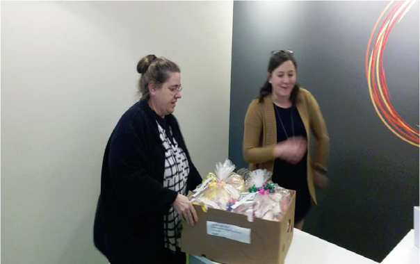 Delivery to The Center for Victims of Torture-B...4-8-19