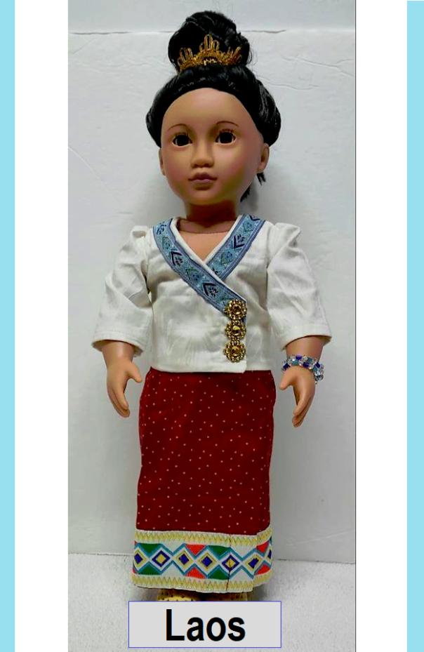 Laos 18 inch doll